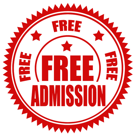 Red stamp with text Free Admission,vector illustration