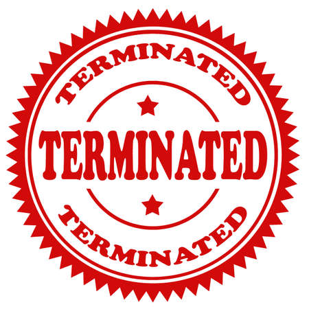 terminated: Grunge rubber stamp with text Terminated,vector illustration