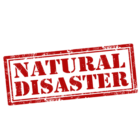hurricane disaster: Grunge rubber stamp with text Natural Disaster,vector illustration Illustration