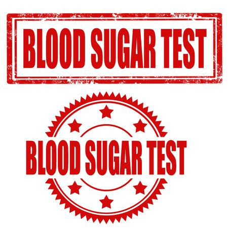blood sugar: Set of stamps with text Blood Sugar Test,vector illustration