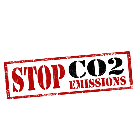 emissions: Grunge rubber stamp with text Stop CO2 Emissions,vector illustration