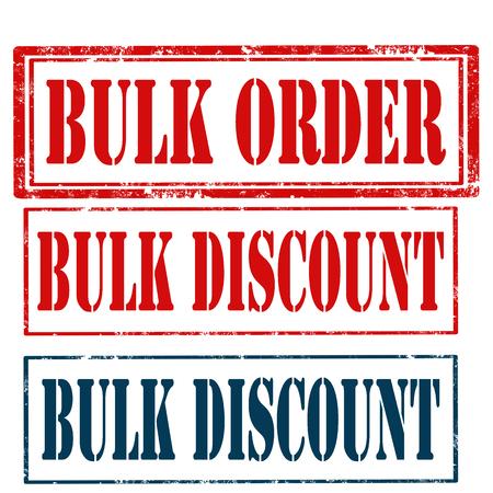 bulk: Set of stamps with text Bulk Order and Bulk Discount,vector illustration Illustration