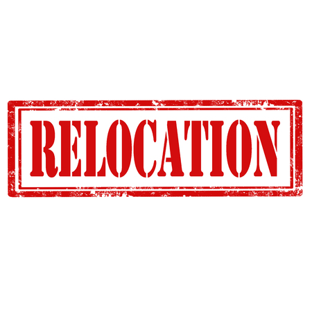 relocation: Grunge rubber stamp with text Relocation,vector illustration