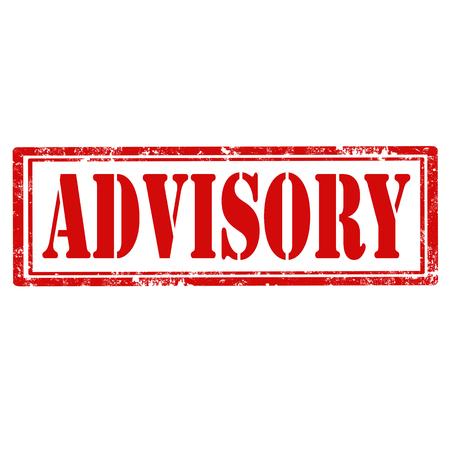 advisory: Grunge rubber stamp with text Advisory,vector illustration Illustration