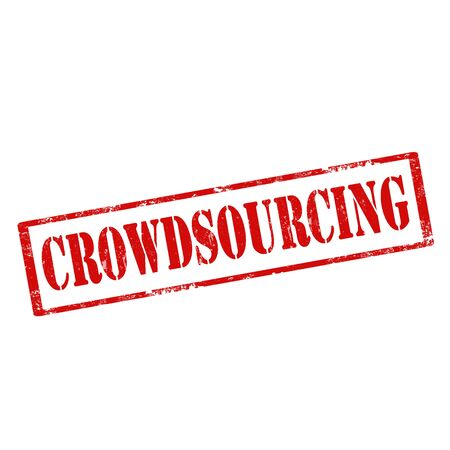 crowdsourcing: Grunge rubber stamp with text Crowdsourcing,vector illustration Illustration
