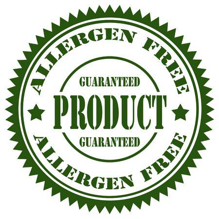 allergen: Stamp with text Allergen Free,vector illustration Illustration