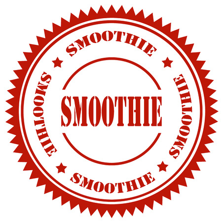 Red stamp with text Smoothie,vector illustration