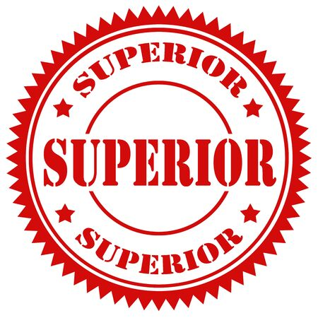 superior: Red stamp with text Superior,vector illustration