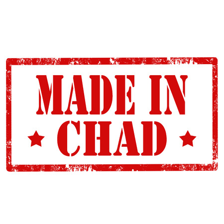 invent: Grunge rubber stamp with text Made In Chad,vector illustration