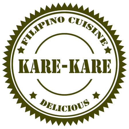 filipino: Stamp with text Kare Kare (Filipino traditional food),vector illustration Illustration
