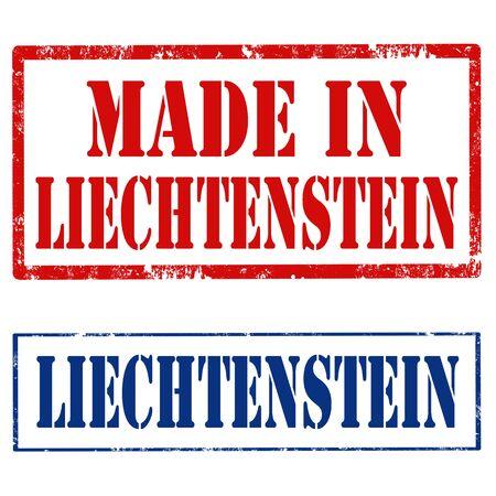 liechtenstein: Set of stamps with text Liechtenstein,vector illustration Illustration