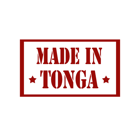 certificated: Stamp with text Made In Tonga,vector illustration