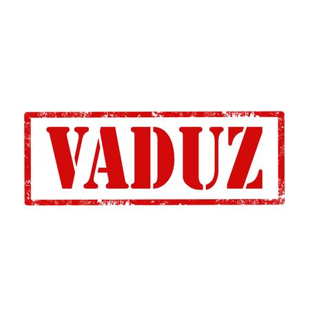 european culture: Grunge rubber stamp with text Vaduz,vector illustration