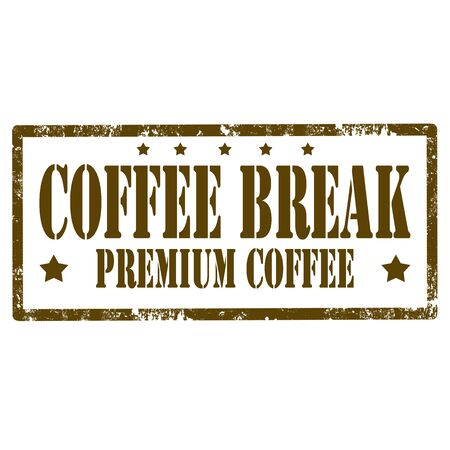 interruption: Grunge rubber stamp with text Coffee Break,vector illustration