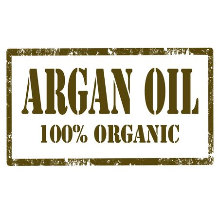 moisturizing: Grunge rubber stamp with text Argan Oil,vector illustration