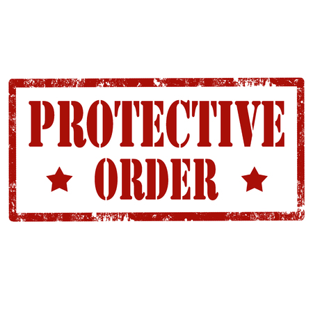 protective: Grunge rubber stamp with text Protective Order,vector illustration