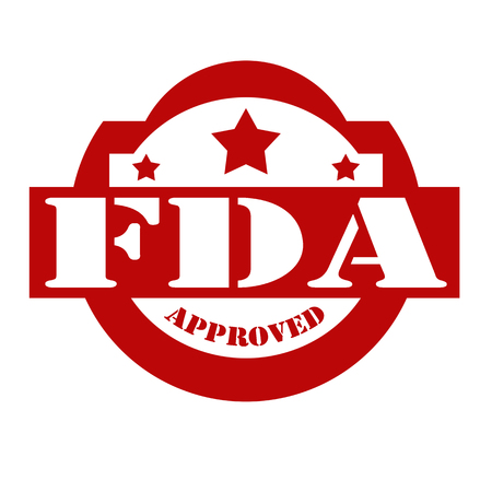 permitted: Red stamp with text FDA Approved,vector illustration