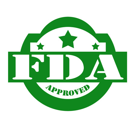 permitted: Green stamp with text FDA Approved,vector illustration