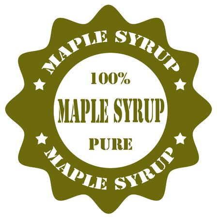 maple syrup: Stamp with text Maple Syrup