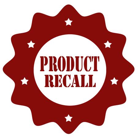 製品リコールのテキストをスタンプします。