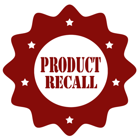 recall: Stamp with text Product Recall Illustration