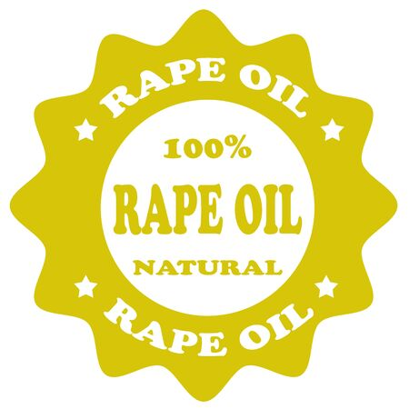 rape: Stamp with text Rape Oil