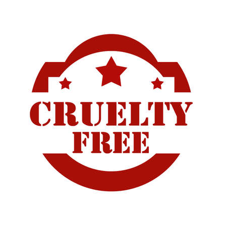cruelty: Red stamp with text Cruelty Free,vector illustration