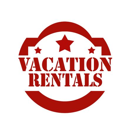 rentals: Stamp with text Vacation Rentals,vector illustration