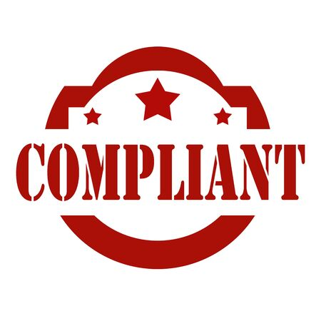 compliant: Red stamp with text Compliant,vector illustration