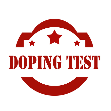 drug test: Stamp with text Doping Test,vector illustration
