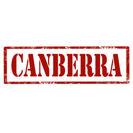 canberra: Grunge rubber stamp with text Canberra,vector illustration