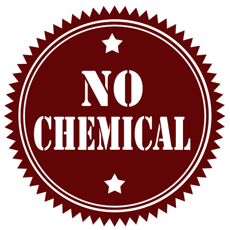 poison symbol: Stamp with text No Chemical,vector illustration