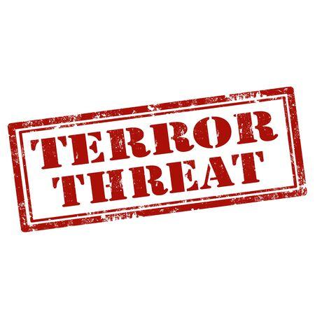 terror: Grunge rubber stamp with text Terror Threat,vector illustration Illustration