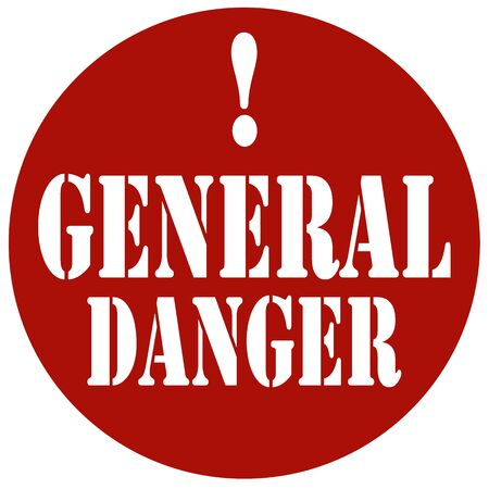 alerts: Red stamp with text General Danger,vector illustration