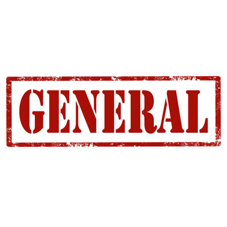 general: Grunge rubber stamp with text General,vector illustration
