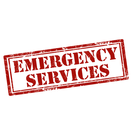 emergency services: Grunge rubber stamp with text Emergency Services,vector illustration
