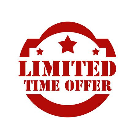 limited time: Red stamp with text Limited Time Offer,vector illustration Illustration