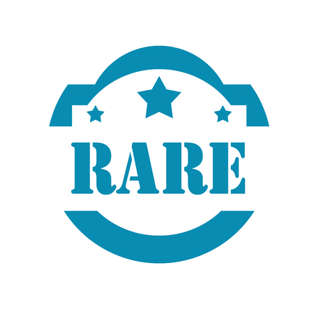 rare: Blue stamp with text Rare,vector illustration