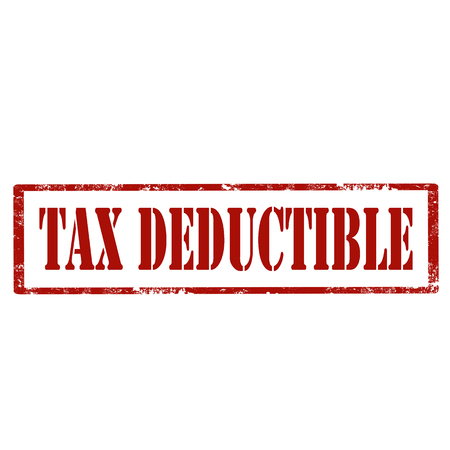 reduce taxes: Grunge rubber stamp with text Tax Deductible,vector illustration