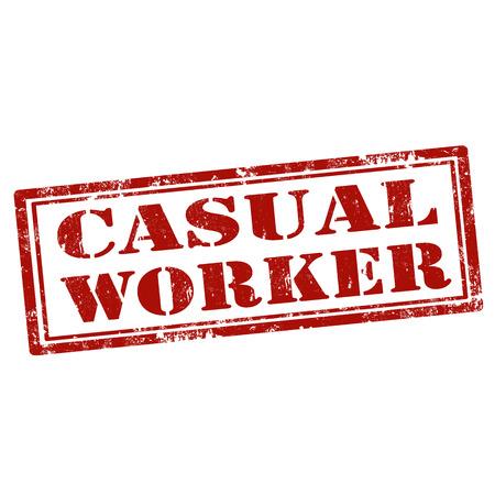 obrero: Grunge sello de goma con el texto trabajador informal, ilustraci�n vectorial