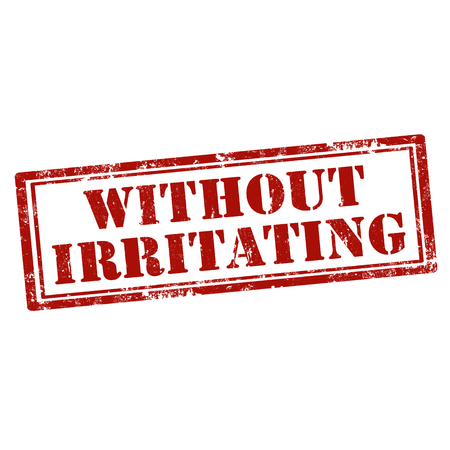 irritating: Grunge rubber stamp with text Without Irritating,vector illustration
