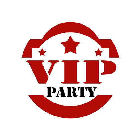 celebrities: Red stamp with text VIP Party,vector illustration