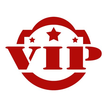 celebrities: Red stamp with text VIP,vector illustration