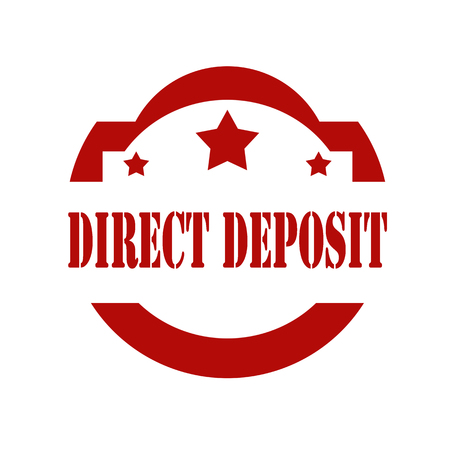 direct: Red stamp with text Direct Deposit,vector illustration