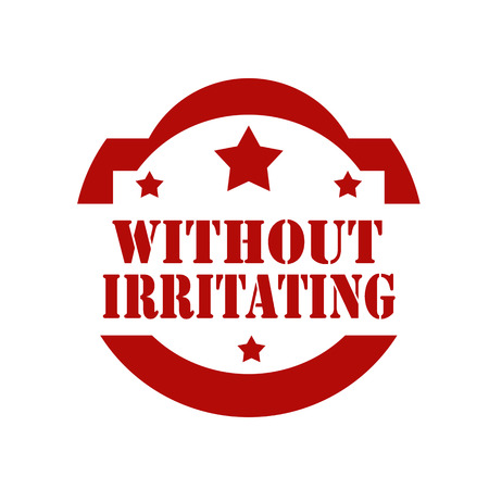 irritating: Red stamp with text Without Irritating,vector illustration Illustration