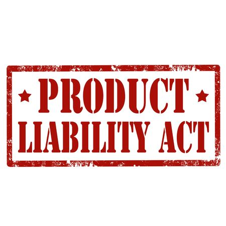 liability: Grunge rubber stamp with text Product Liability Act, illustration