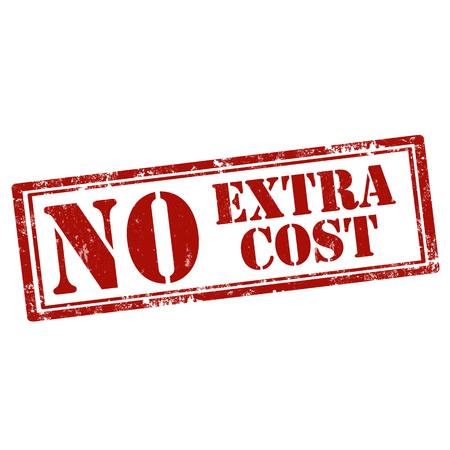 Grunge sello de goma con el texto sin coste adicional, ilustración vectorial
