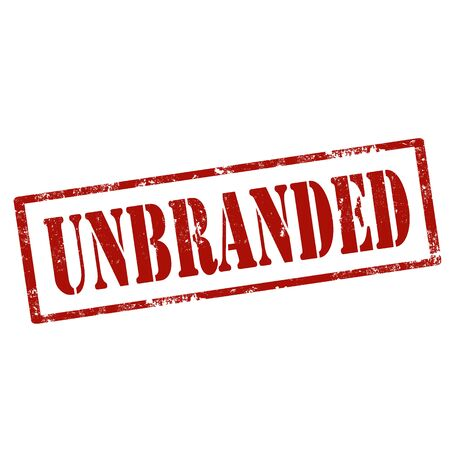 unbranded: Grunge rubber stamp with text Unbranded,vector illustration