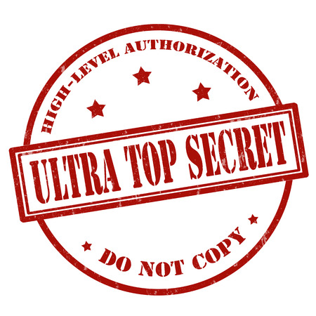 received: Grunge rubber stamp with text Ultra Top Secret,vector illustration Illustration