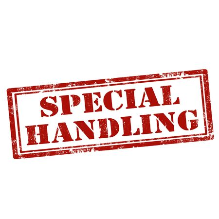 handling: Grunge rubber stamp with text Special Handling,vector illustration